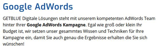Google AdWords in Erkheim