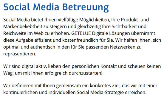 Social Media Strategie aus Wittighausen